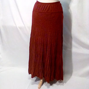 Carole Little Size XL crinkle knit midi skirt